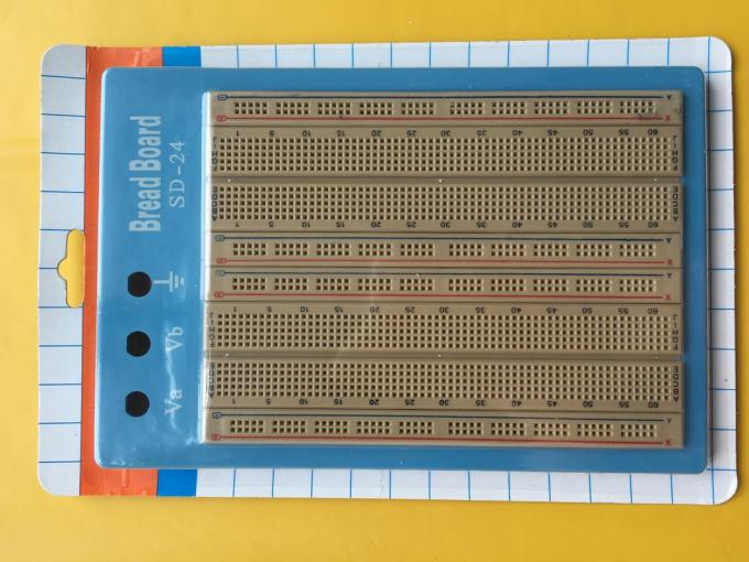 Blue Plate Brown Solderless Circuit Board With Blue Red Lines 1680
