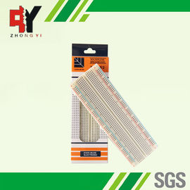 China MB-102 Color Solderless Breadboard Back Side With Adhesive Paper supplier