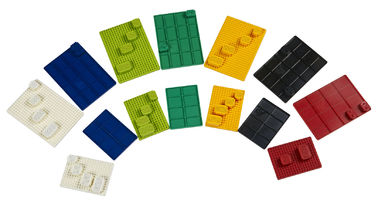 China Colorful Super Mini Solderable Breadboard ABS Plastic Material 25 / 35 / 45 Tie - Points supplier