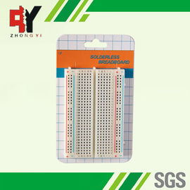 China Half Size 400 Tie Points Solder Breadboard Projects In Electronics 5.5x8.2 cm supplier