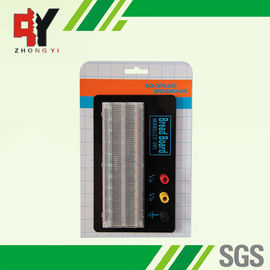 China Red / Blue Contacts Transparent Breadboard Black Aluminum Backing Plate supplier