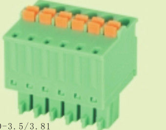 China PA66 VO Phosphor Brass Contact Environmental Protection Pluggable Terminal Block supplier