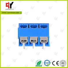 China HQ306-5.0 Terminal Block PCB 2P - 3P Pole PA66 UL94V-0 Material supplier
