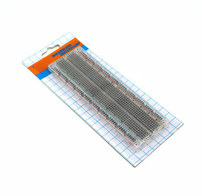 Universal Solderless Bread Board Transparent Full Nickel Plating 165x55x10 mm