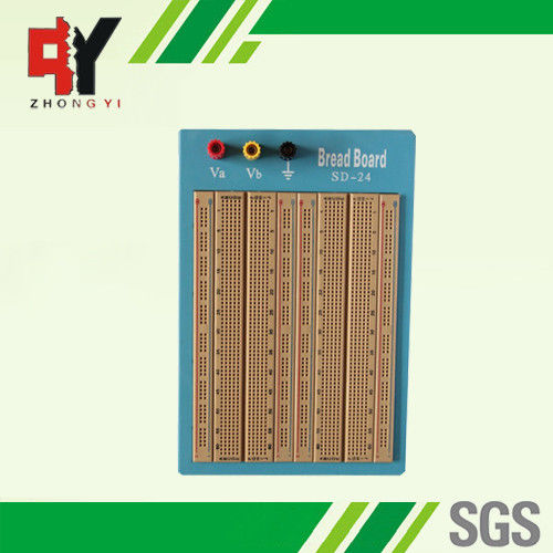 brown solderless circuit board circuit bread board with blue plate rh electronics breadboard com