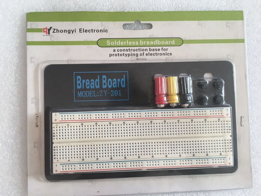 rohs abs round hole breadboard circuit projects 830 points with rh electronics breadboard com