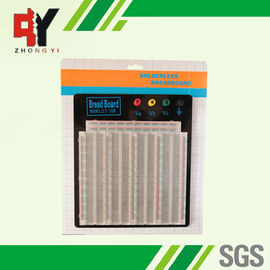 ABS Plastic Soldering Breadboard Transparent With Black Aluminum Plate