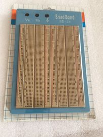 Blue Plate Brown Solderless Circuit Board With Blue / Red Lines 1680 Points