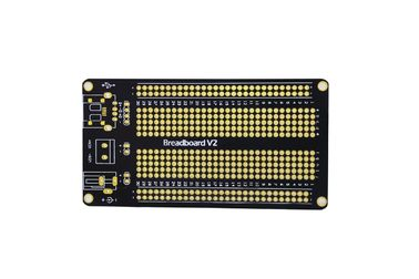 1.5mm OPS Black Universal Prototype PCB Board 105 * 55mm Short Circuit Protection